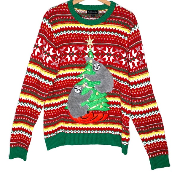 Sloth Christmas Sweater.Blizzard Bay Sloth Ugly Christmas Sweater On Tree